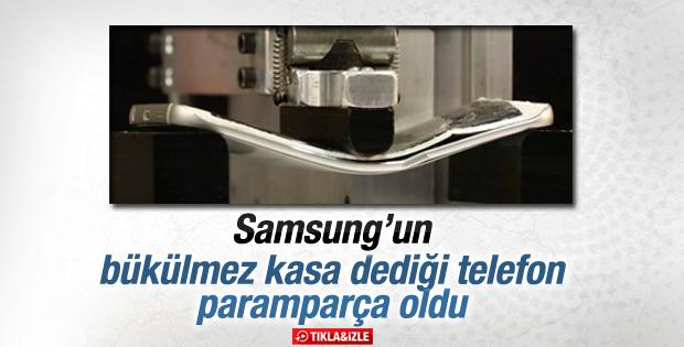 Samsung Galaxy S6 Edge bükülme testi İZLE