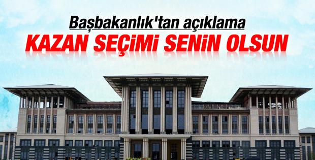 Başbakanlık'tan Cumhurbaşkanlığı Sarayı açıklaması
