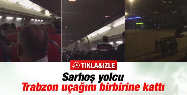 Sarhoş yolcu THY uçağını birbirine kattı