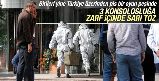 İstanbul'da 3 başkonsoloslukta sarı toz alarmı