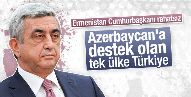 Sarkisyan Karabağ meselesinde Türkiye'ye tepkili