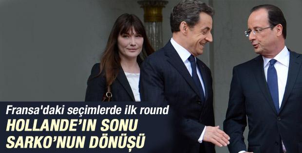 Fransa'da ilk turda zafer Sarkozy ve Le Pen'in