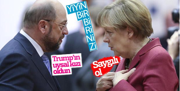 Schulz, Merkel'in ABD politikasını eleştirdi