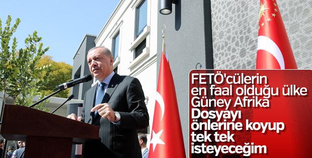 Başkan Erdoğan, FETÖ-Güney Afrika ilişkisine dikkat çekti