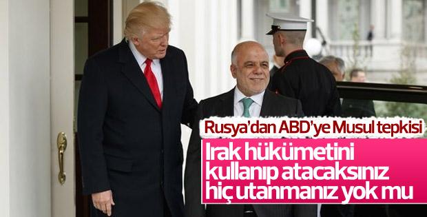 Rusya'dan ABD'ye Irak tepkisi
