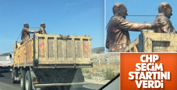 CHP'de yerel seçim hazırlıkları heykel dikmekle başladı