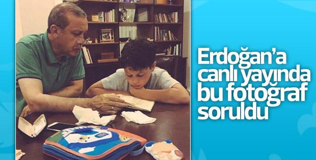Erdoğan'ın torunuyla olan fotoğrafı 15 Temmuz gecesine ait