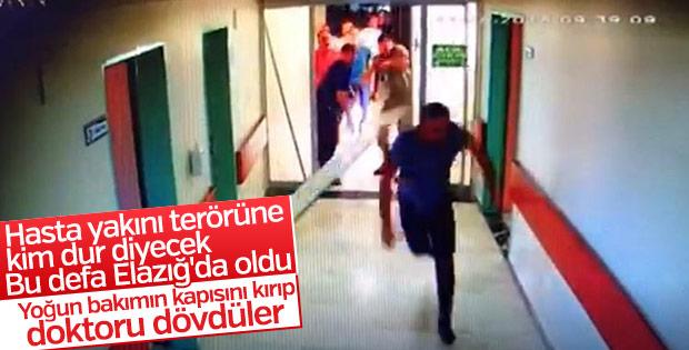 Elazığ'da yoğun bakım kapısını kırıp doktora saldırdılar