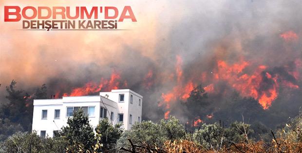 Bodrum'da yangın vatandaşları korkuttu