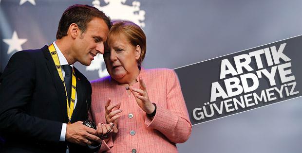 Merkel: Artık ABD'ye güvenemeyiz