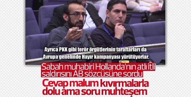 Türk gazeteciden AB sözcüsünü zora sokan soru