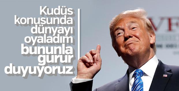 Trump: Kudüs kararından gurur duyuyoruz