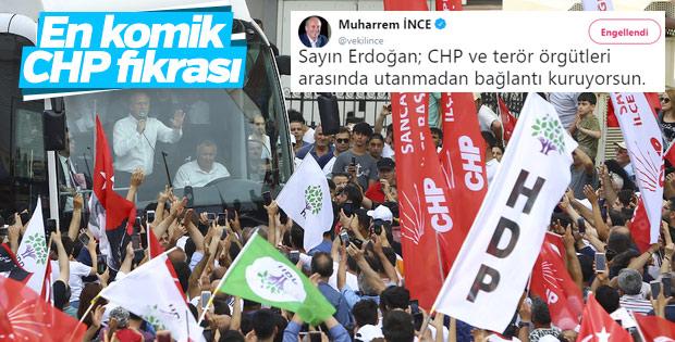 İnce'nin Erdoğan'ın terör eleştirisine tepkisi