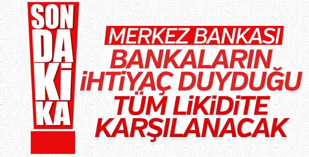 Merkez Bankası likidite yönetimine  ilişkin tedbirleri açıkladı