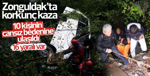 Zonguldak'ta feci kaza: 10 kişi hayatını kaybetti