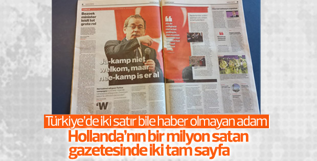 Hollanda gazetesi Abdüllatif Şener'e 2 sayfa yer ayırdı