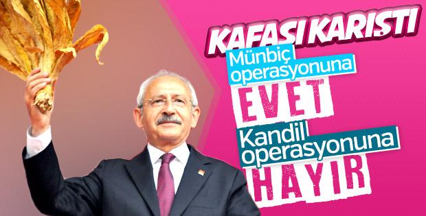 PKK'ya operasyonlar Kılıçdaroğlu'nun kafasını karıştırdı