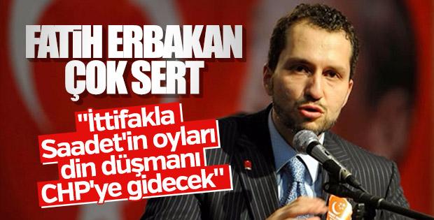 Fatih Erbakan: Saadet'e verilen oylar CHP'ye gidiyor