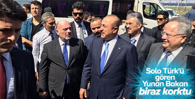 Yunan Bakan F-16'ları işaret edince Bakan Çavuşoğlu: Endişelenmeyin