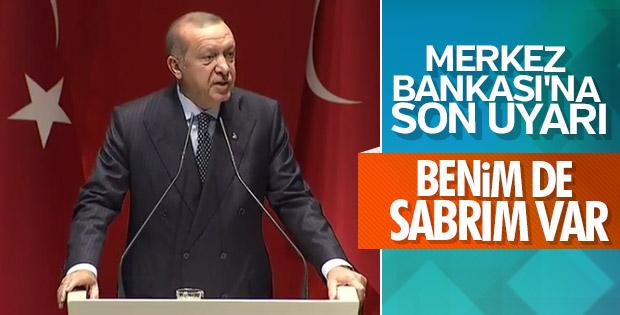 Başkan Erdoğan'dan Merkez Bankası'na tepki