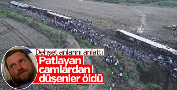 Tren kazasında yaralananlar olay anını anlattı