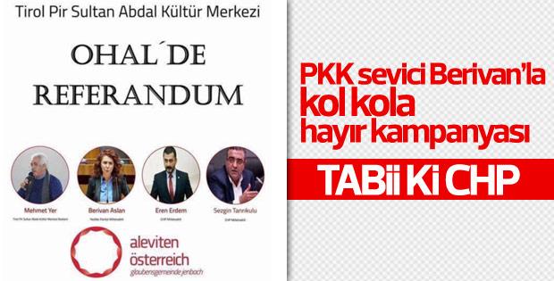 CHP'li vekillerden PKK yanlısı Aslan'la Hayır kampanyası