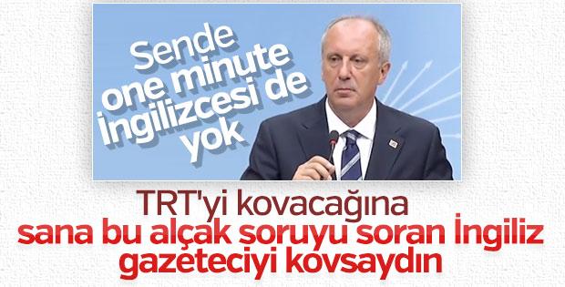Muharrem İnce TRT ekibini basın toplantısına almadı