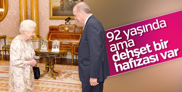 Cumhurbaşkanı Erdoğan: Kraliçe'nin hafızası dehşet