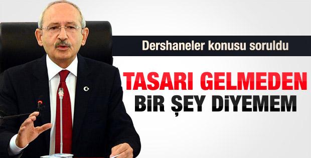 Kılıçdaroğlu'ndan dershaneler açıklaması