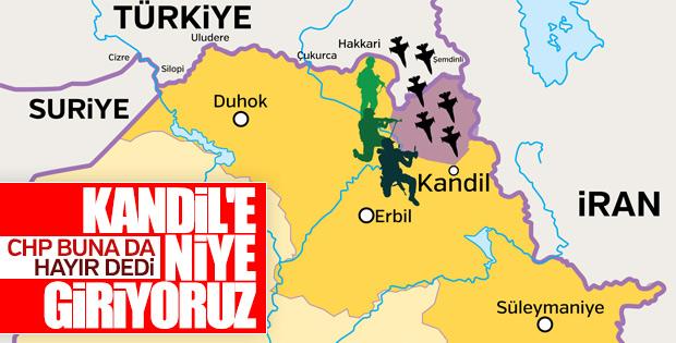 CHP Kandil operasyonuna karşı çıktı
