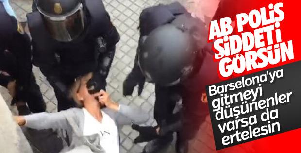 Barselona'da ayrılıkçılar polisle çatıştı