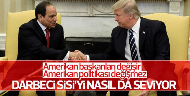 Trump Sisi ile Beyaz Saray'da görüştü
