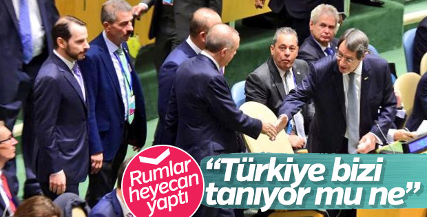 Erdoğan'ın Anastasiadis ile sohbeti Rumlarda gündem oldu
