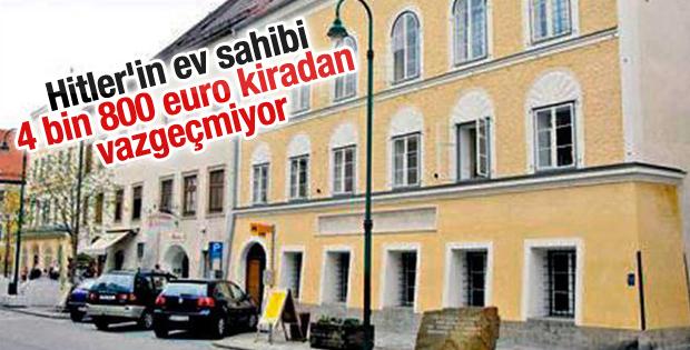 Hitler'in ev sahibi 4 bin 800 euro kiradan vazgeçmiyor