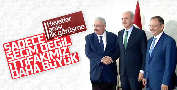 AK Parti-MHP ittifak görüşmesi gerçekleştirdi