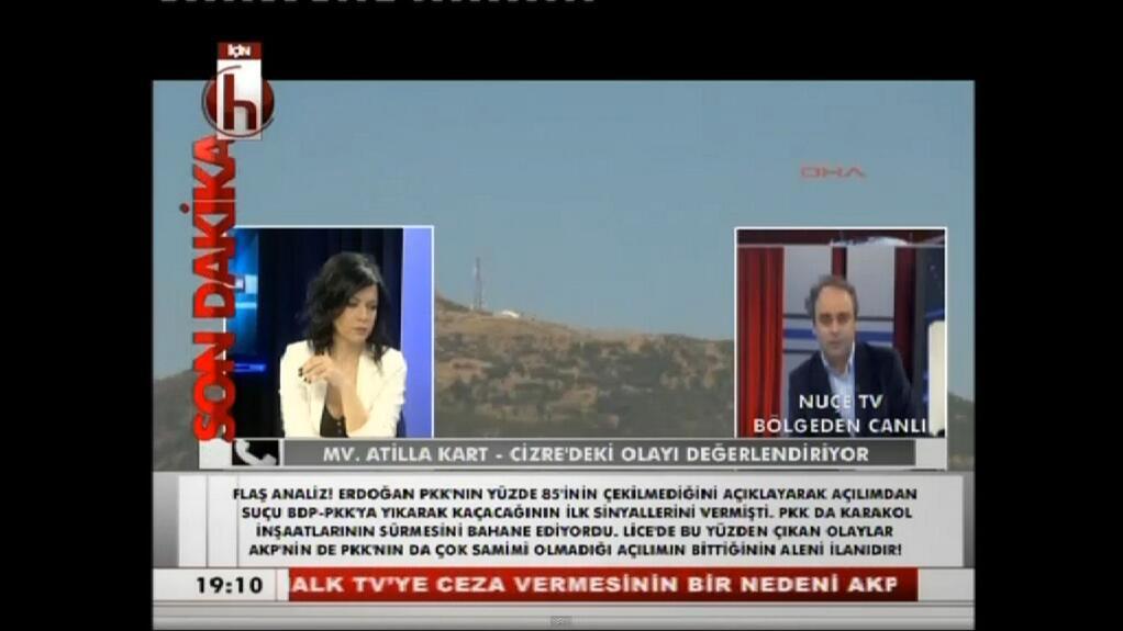 Halk TV canlı yayında Nuçe TV'yi ekranlarına taşıdı