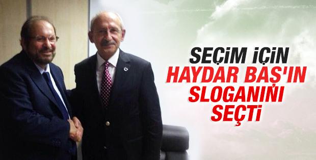 CHP'nin seçim teması belli oldu