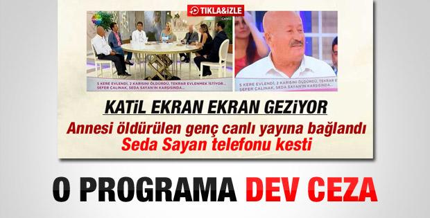 RTÜK'ten Seda Sayan'a para cezası