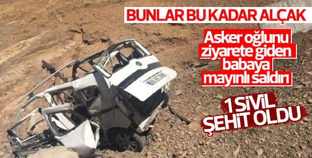 Asker oğlunu görmeye giden babaya PKK tuzağı