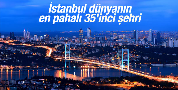 İstanbul en pahalı 35'inci şehir