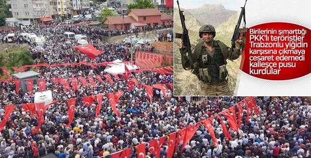 Trabzon şehit Bahattin Baştan'ı uğurladı