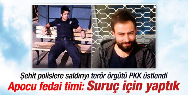 Şehit polislere saldırıyı PKK üstlendi