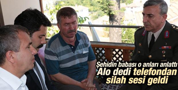 Hakkari şehidinin babası saldırı anını anlattı