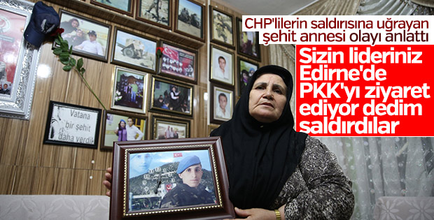 CHP'lilerin saldırdığı şehit annesi konuştu