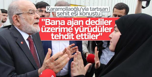 Temel Karamollaoğlu ile tartışan şehit eşinden açıklama