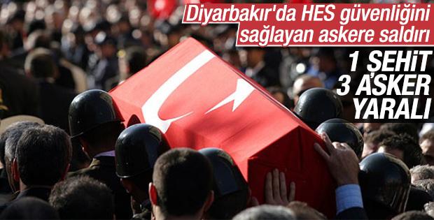 Diyarbakır'da askere bombalı saldırı: 1 şehit