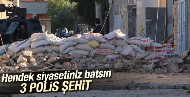 Diyarbakır'da 1, Cizre'de 2 polis şehit oldu