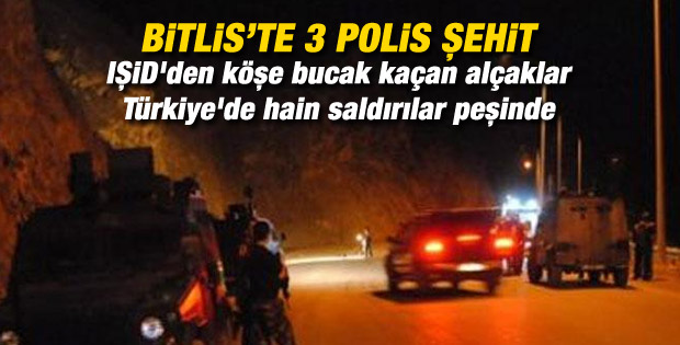 Bitlis'te polis aracı devrildi: 3 şehit 2 yaralı