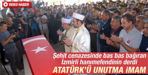 İzmir'de şehit cenazesinde Atatürk gerginliği