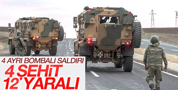 4 ayrı ilde PKK saldırısı: 4 şehit, 12 yaralı